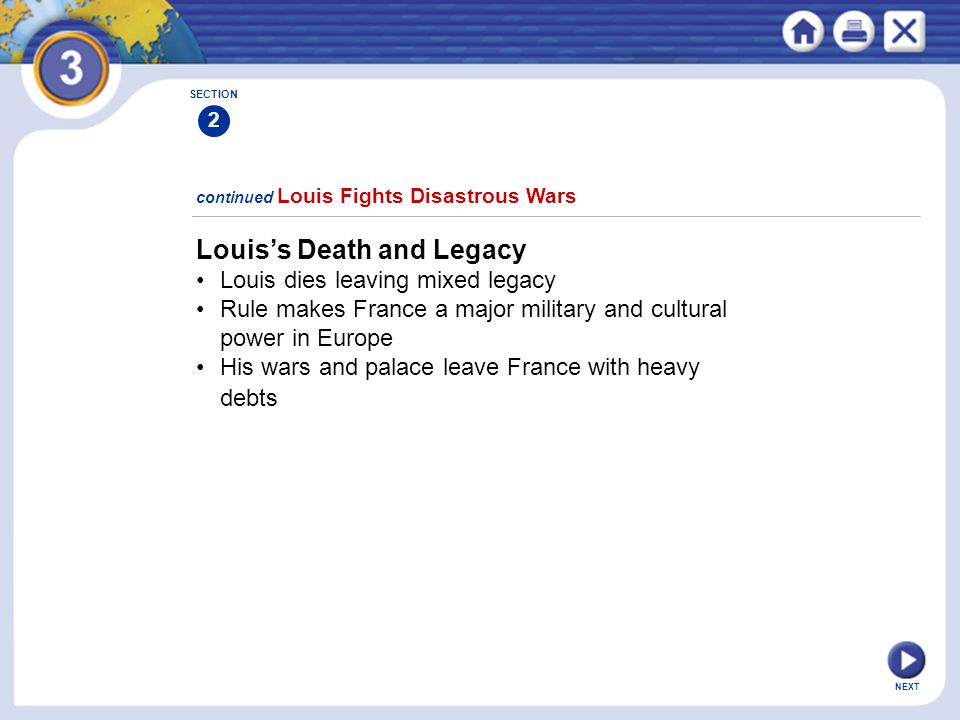Louis's Death and Legacy