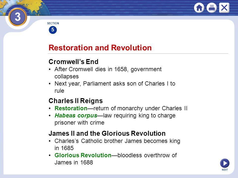 Restoration and Revolution