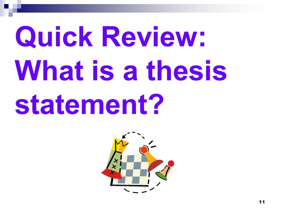 quick thesis The toughest part of writing a thesis is getting started get this insider's guide on how to write a thesis when you're short on time and struggling.