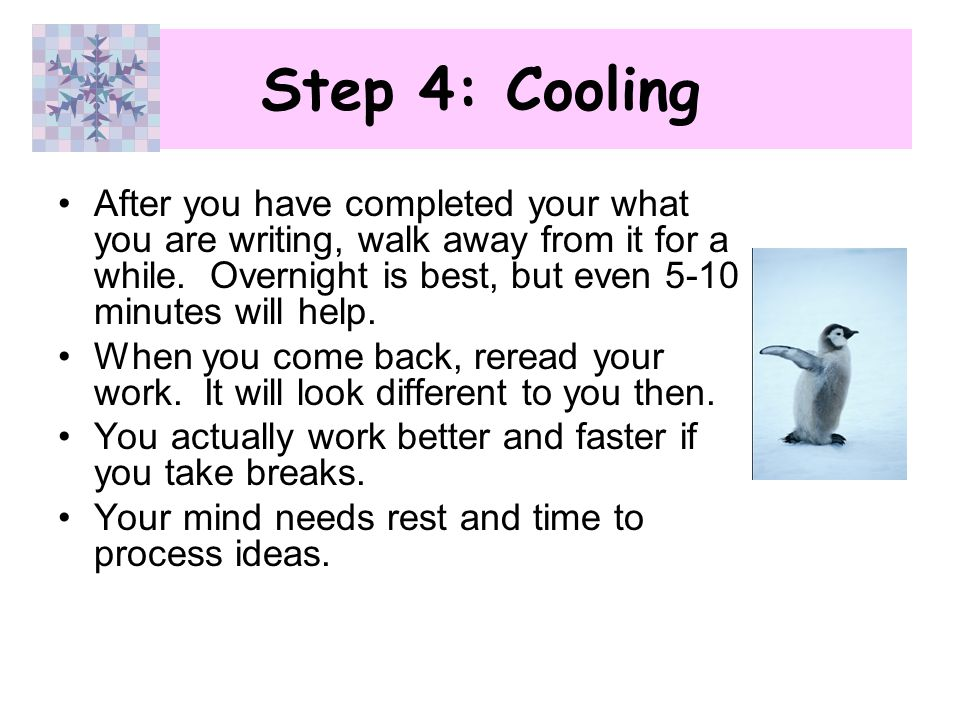 Step 4: Cooling