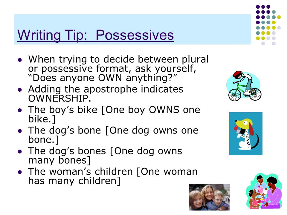 Writing Tip: Possessives