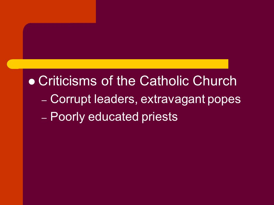 Criticisms of the Catholic Church