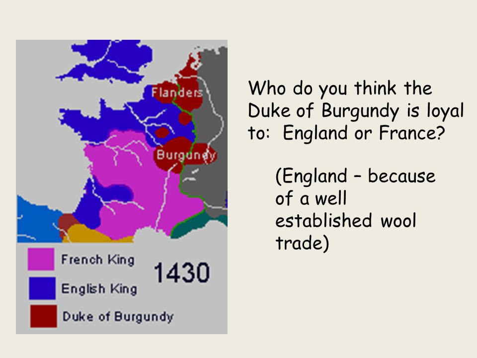Who do you think the Duke of Burgundy is loyal to: England or France