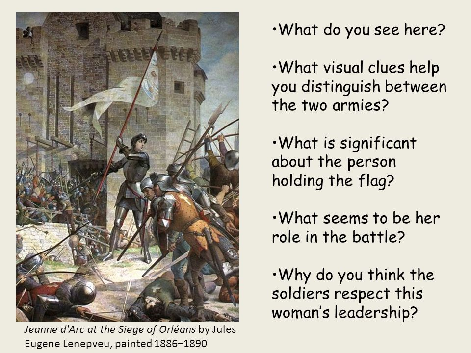 What visual clues help you distinguish between the two armies