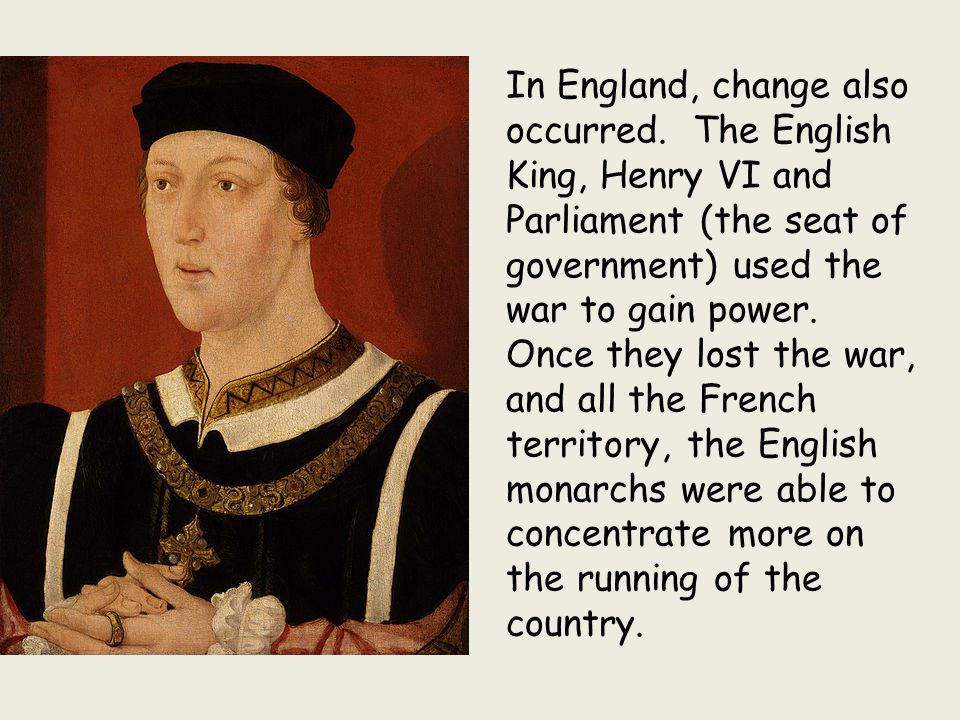 In England, change also occurred