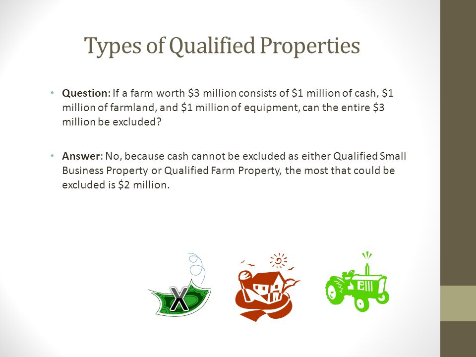 Types of Qualified Properties
