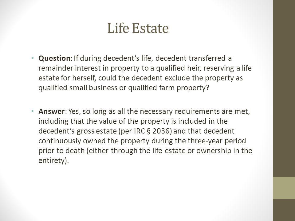 Life Estate