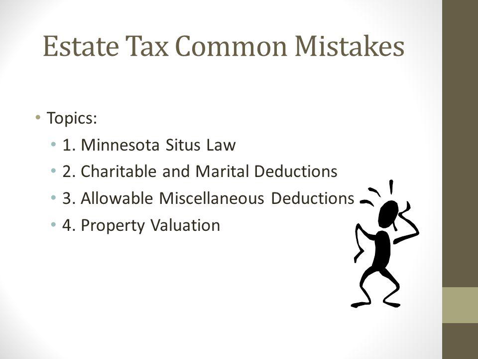 Estate Tax Common Mistakes