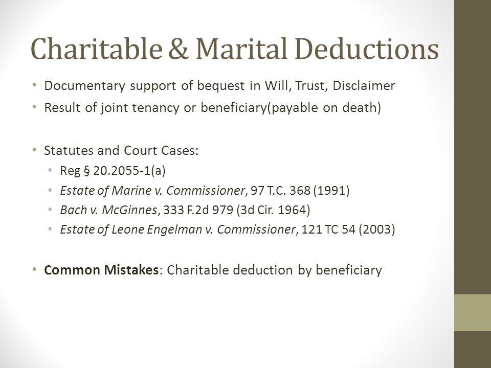 Charitable & Marital Deductions