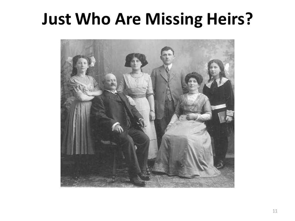 Just Who Are Missing Heirs