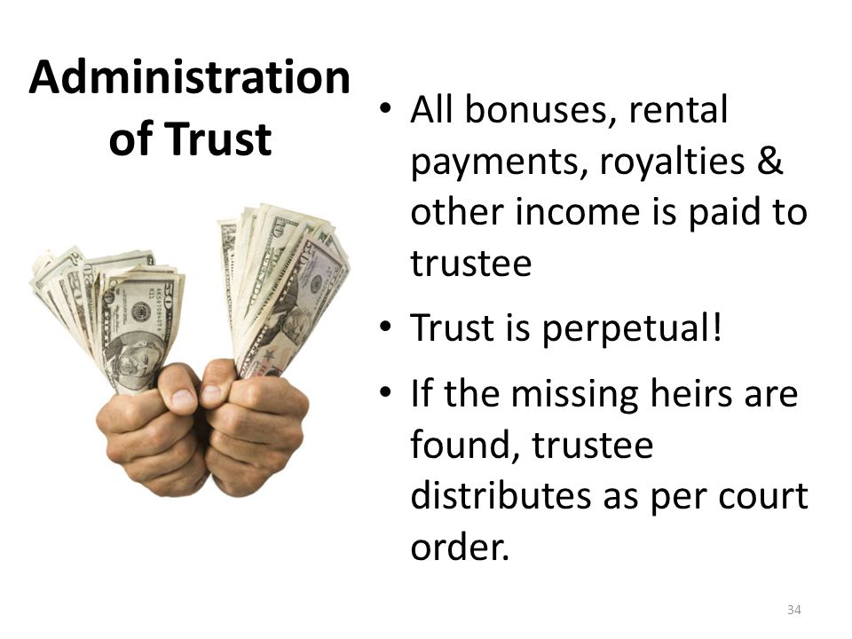 Administration of Trust