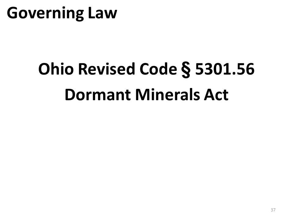 Ohio Revised Code § 5301.56 Dormant Minerals Act