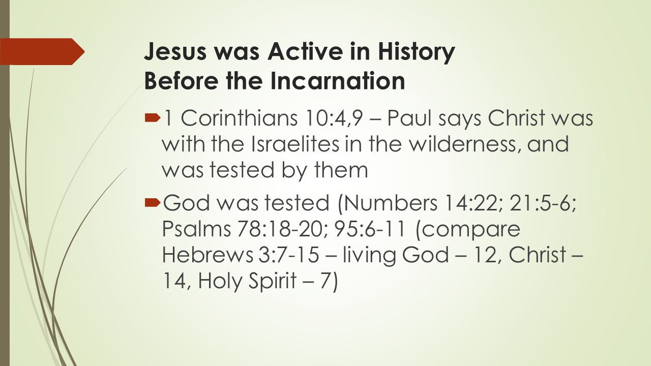 Jesus was Active in History Before the Incarnation