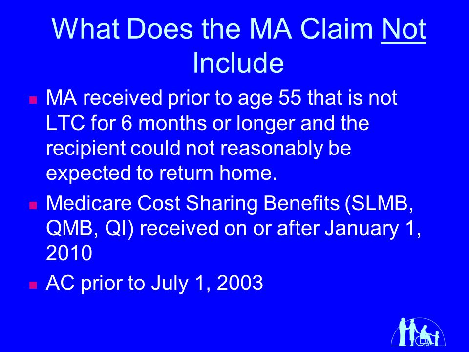 What Does the MA Claim Not Include