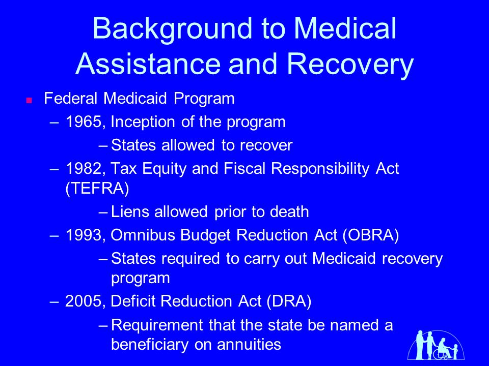 Background to Medical Assistance and Recovery