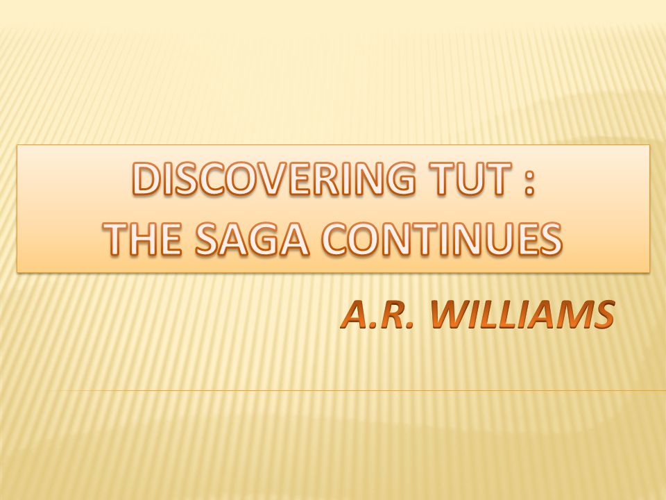 DISCOVERING TUT : THE SAGA CONTINUES