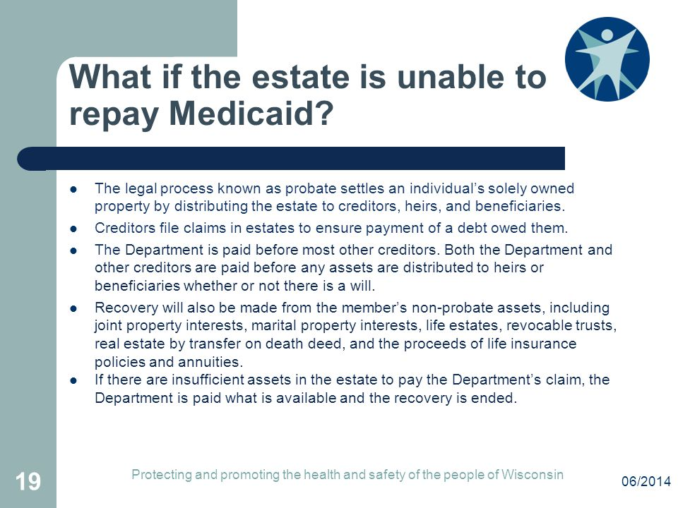What if the estate is unable to repay Medicaid