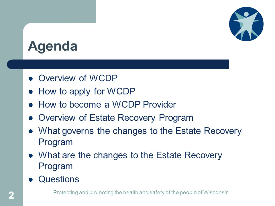 Agenda Overview of WCDP How to apply for WCDP