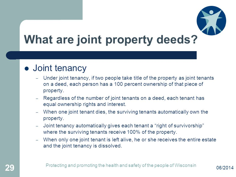 What are joint property deeds