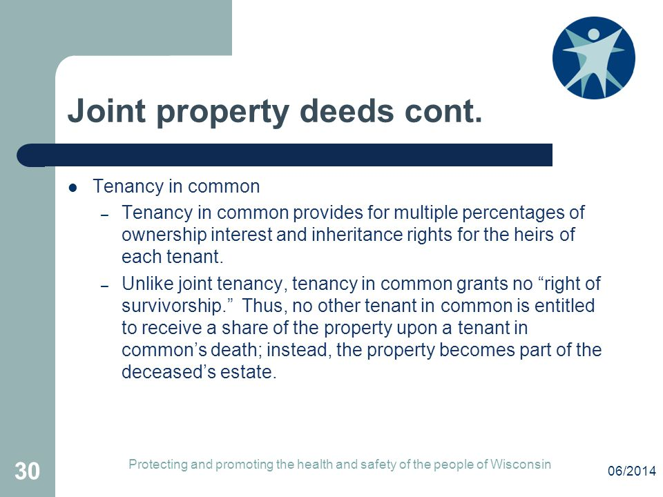 Joint property deeds cont.