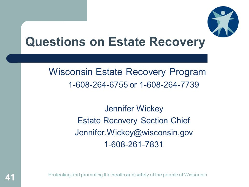 Questions on Estate Recovery