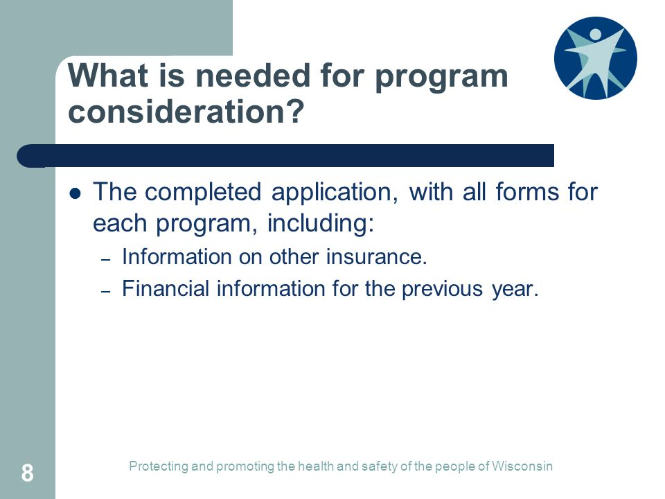 What is needed for program consideration