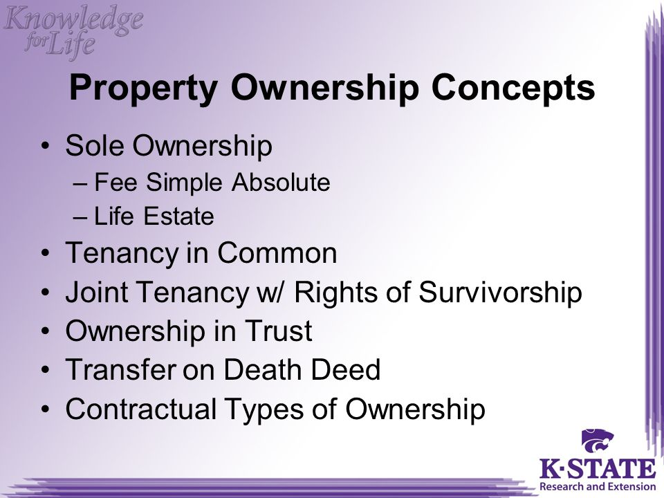Property Ownership Concepts