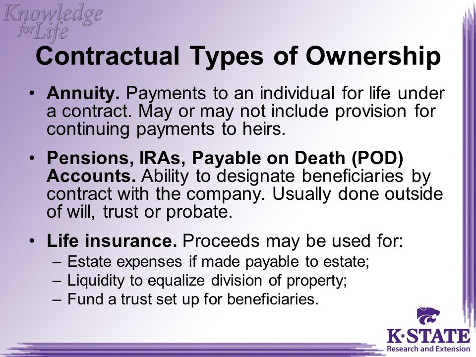 Contractual Types of Ownership