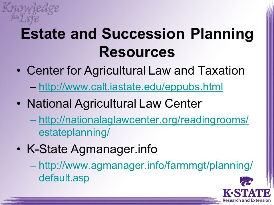 Estate and Succession Planning Resources