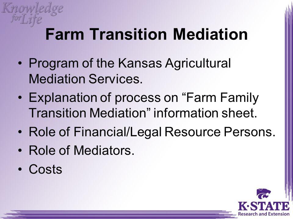 Farm Transition Mediation