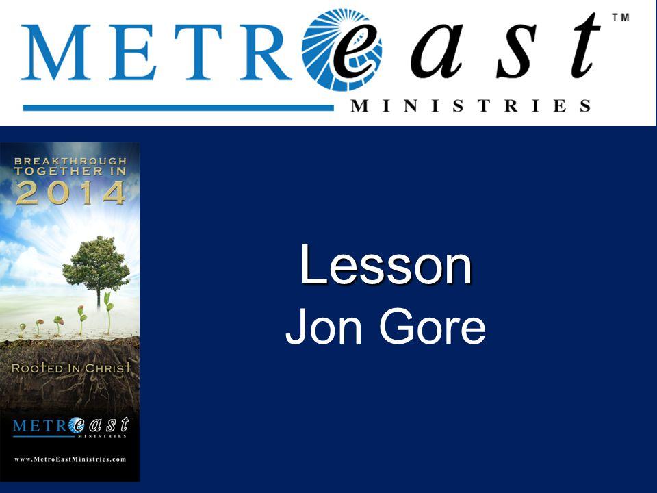 Lesson Jon Gore .
