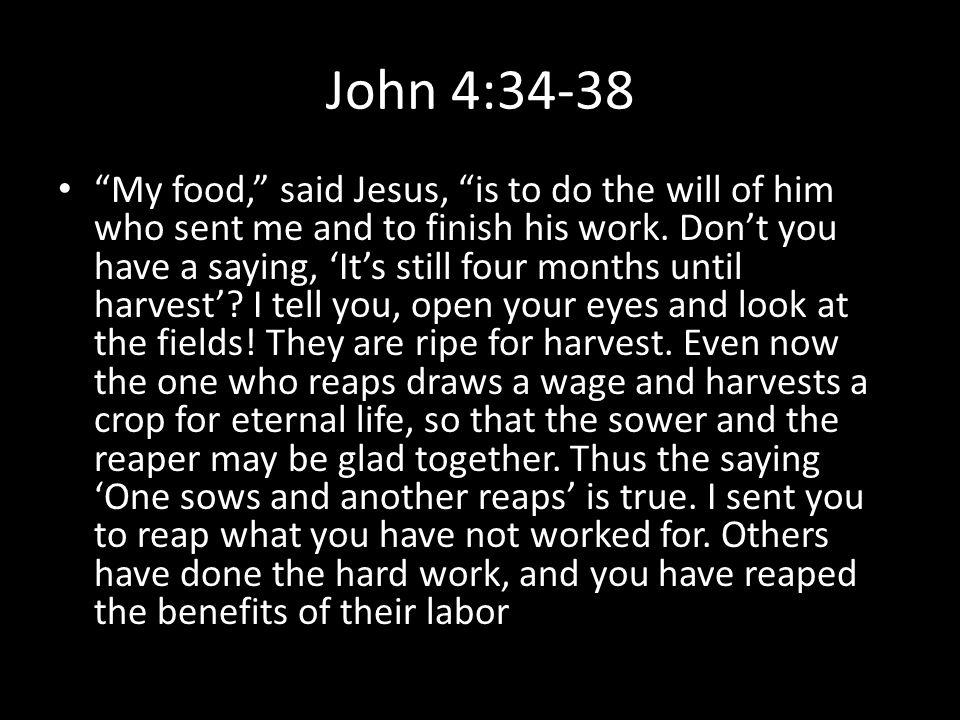 John 4:34-38