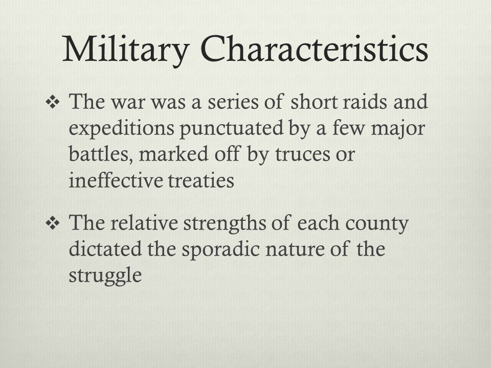 Military Characteristics