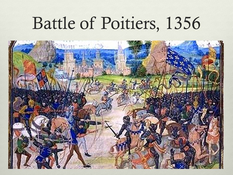 Battle of Poitiers, 1356