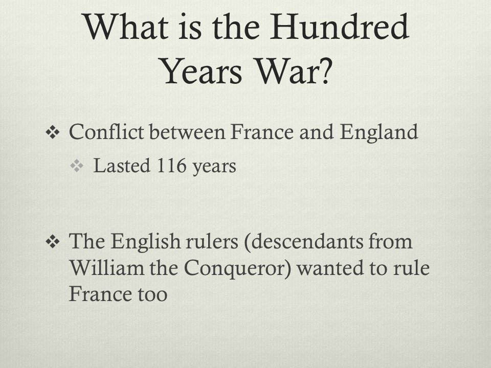 What is the Hundred Years War