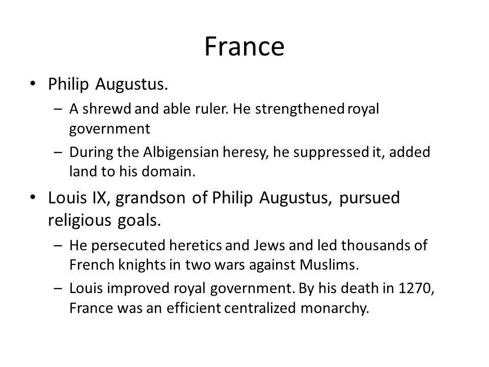 France Philip Augustus.
