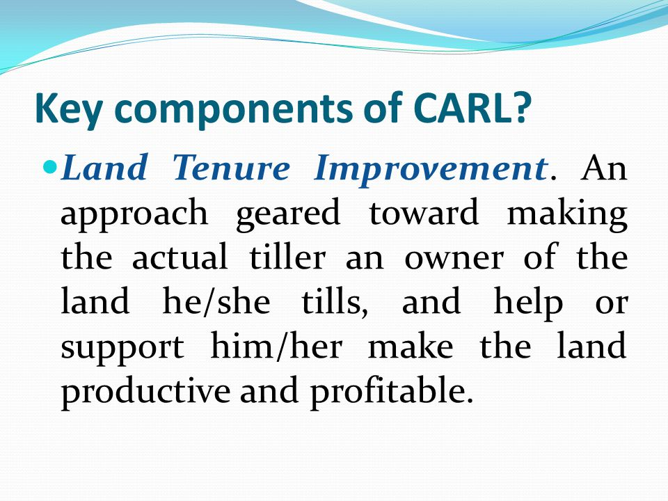 Key components of CARL