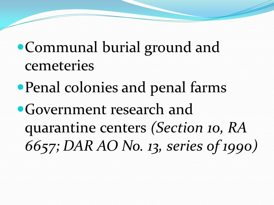 Communal burial ground and cemeteries