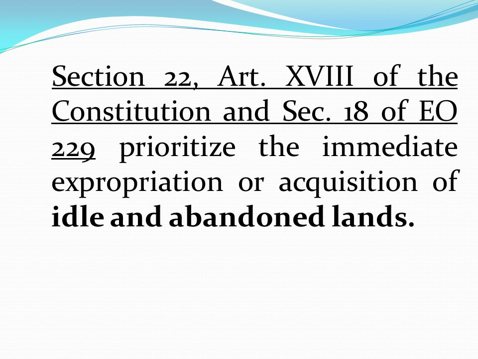 Section 22, Art. XVIII of the Constitution and Sec