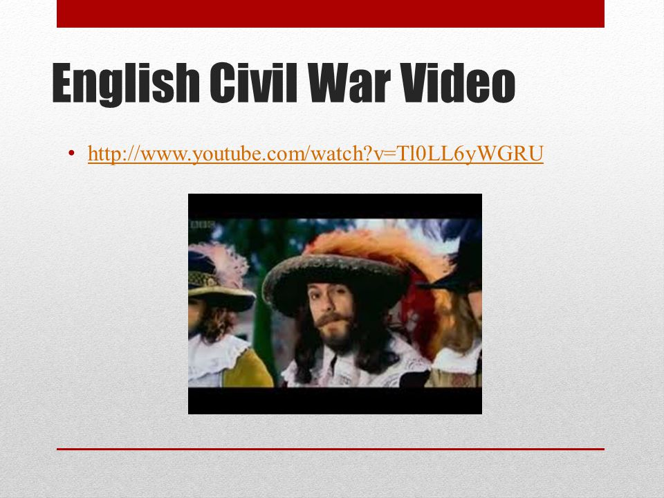 English Civil War Video