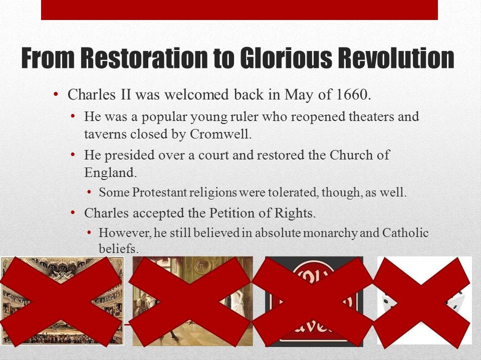 From Restoration to Glorious Revolution