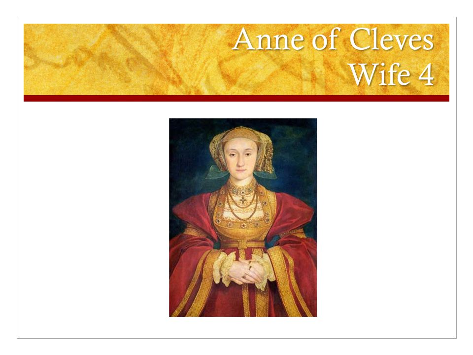 Anne of Cleves Wife 4