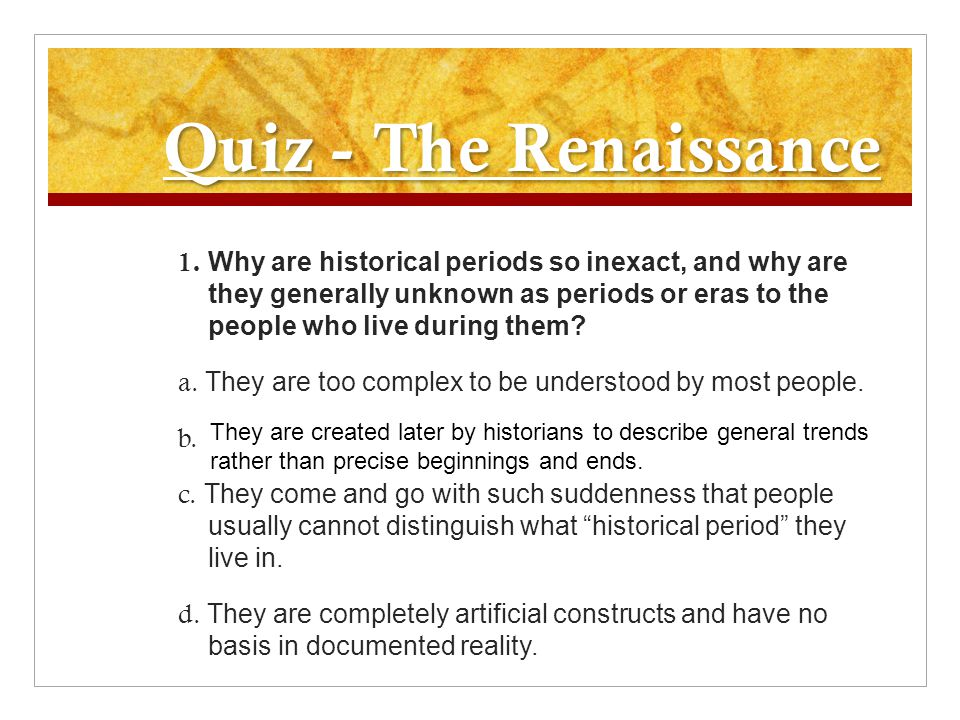 Quiz - The Renaissance