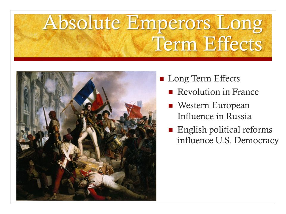 Absolute Emperors Long Term Effects