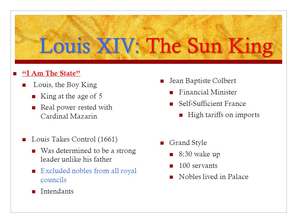 Louis XIV: The Sun King I Am The State Louis, the Boy King