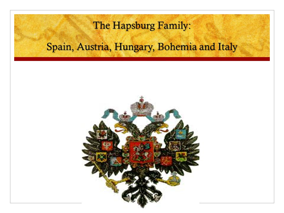 The Hapsburg Family: Spain, Austria, Hungary, Bohemia and Italy