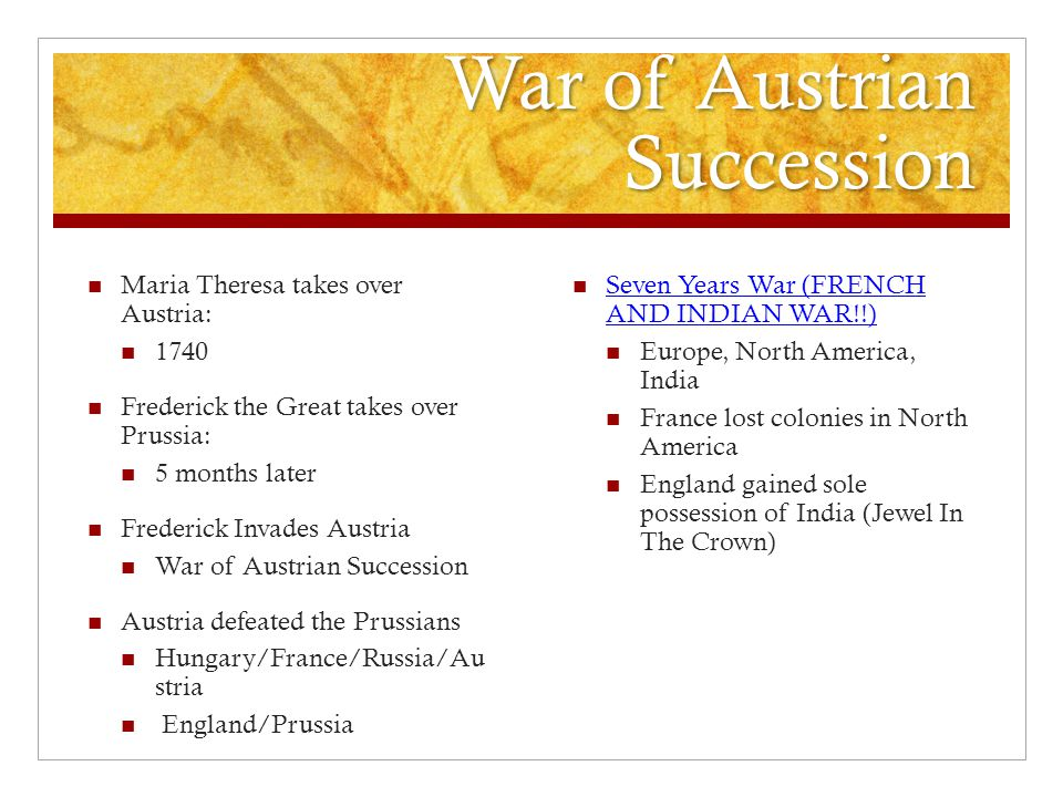 War of Austrian Succession