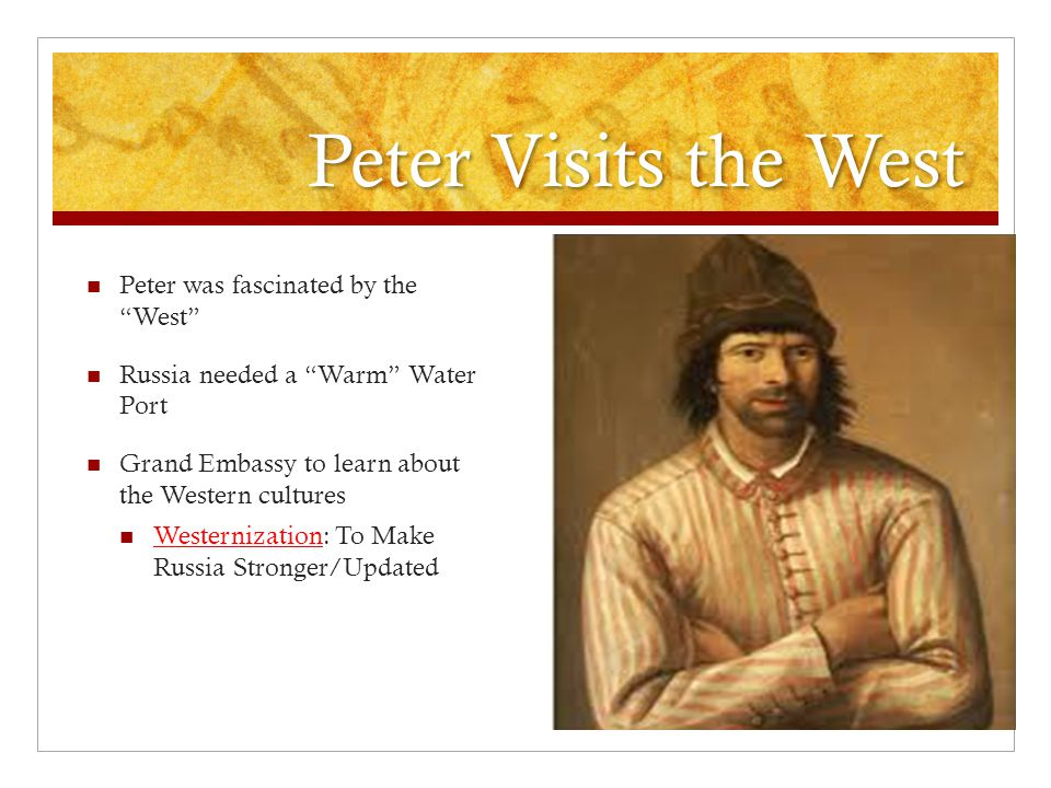 Peter Visits the West Peter was fascinated by the West