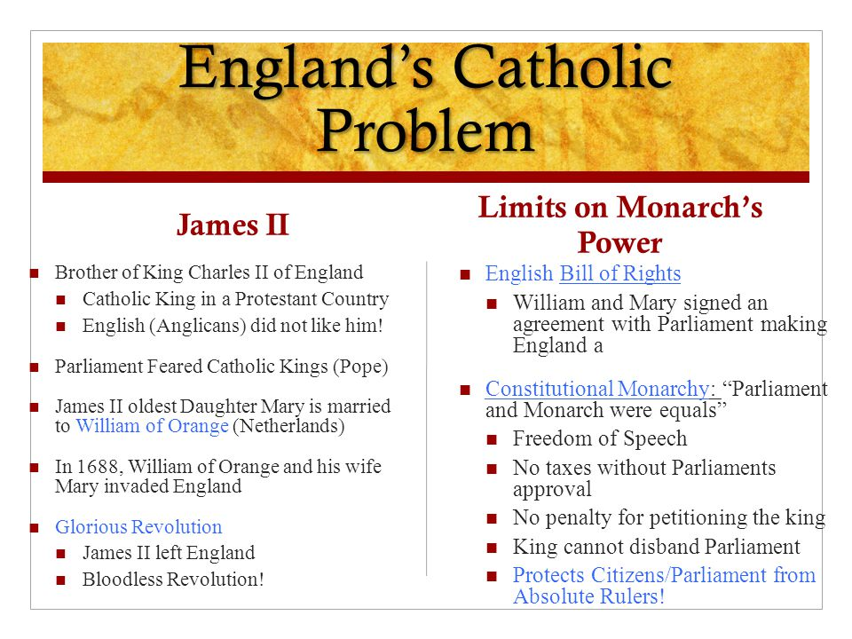 England's Catholic Problem