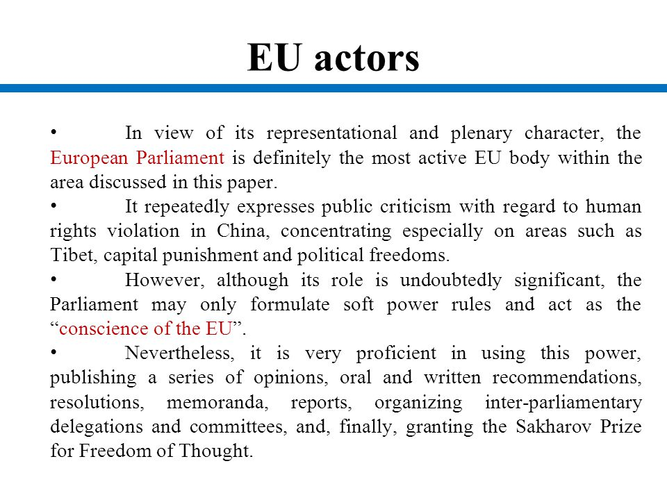EU actors